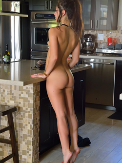 Somara in the Kitchen - Small titted Natural Beauty Stripping Hot